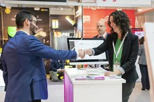 The start-up village at Rail Live exhibition in Madrid, Spain