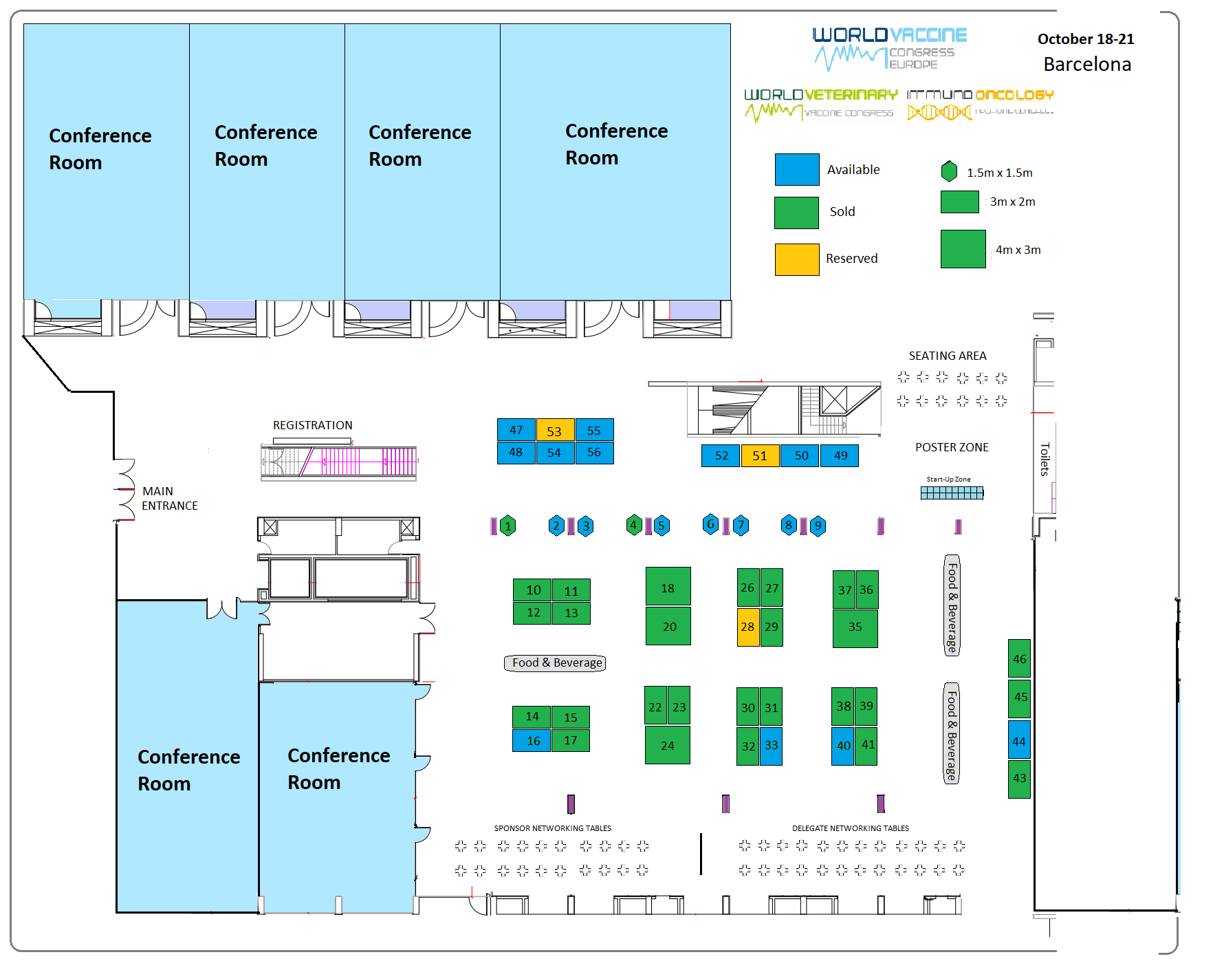 Vaccine congress Europe 2020 floorplan