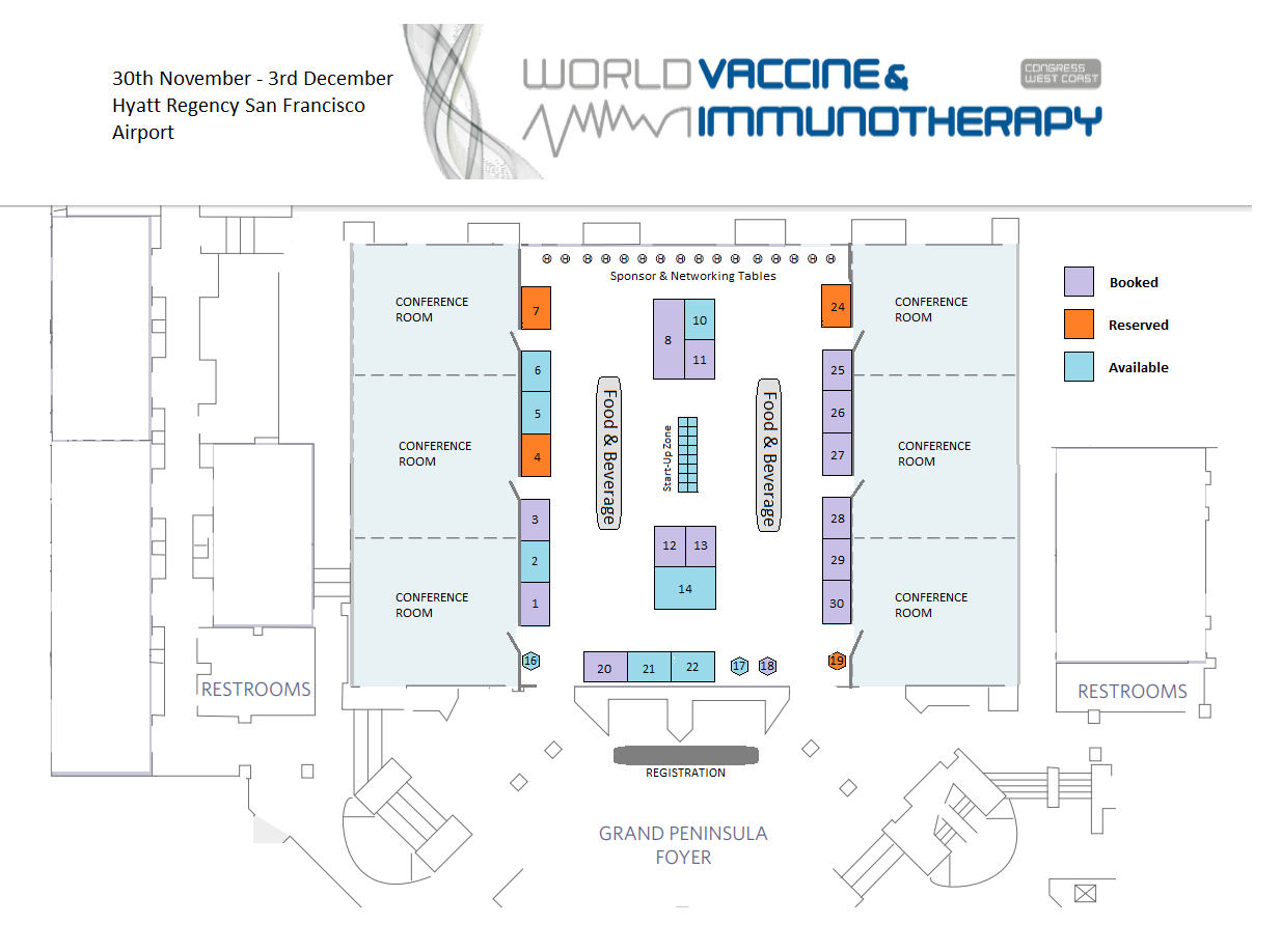 Vaccine Congress West Coast Floor Plan