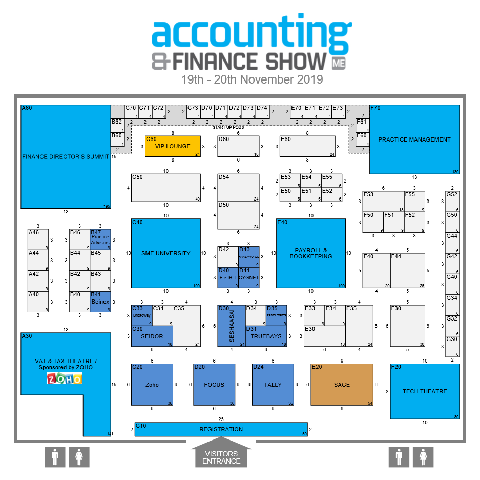 Accounting & Finance Middle East 2019 Floorplan