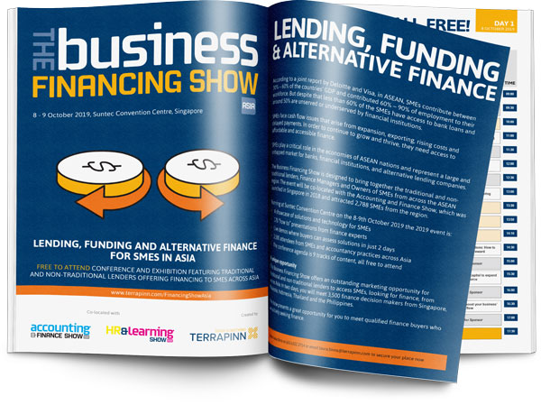 The Business Financing Show Asia 2019 sponsorship brochure