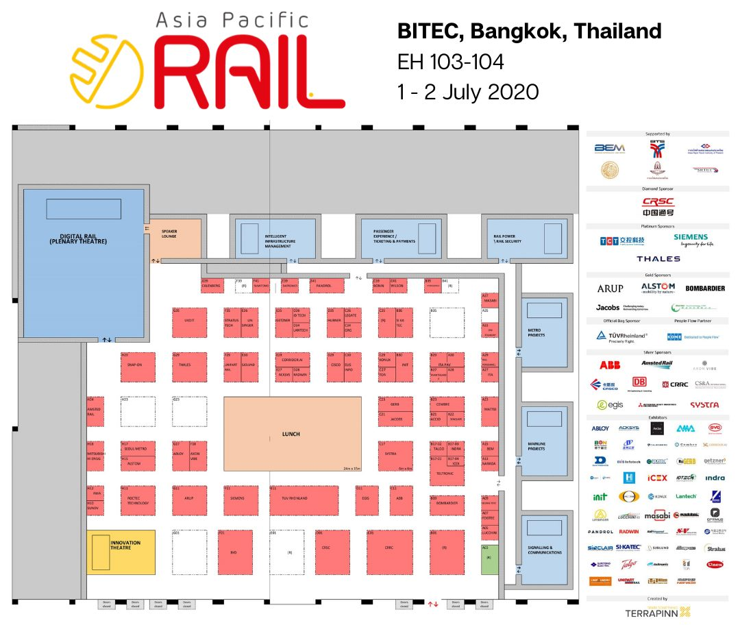 The floorplan for Asia Pacific Rail