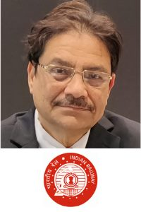 Nalinaksh Vyas speaking at Asia Pacific Rail