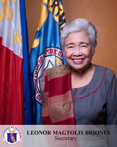 H.E. Secretary Leonor Magtolis Briones, Secretary of Education, Department of Education, Philippines @ EduTECH Philippines 2019