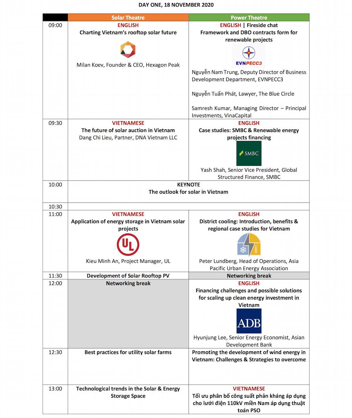 Future Energy Show VN Agenda Day 1