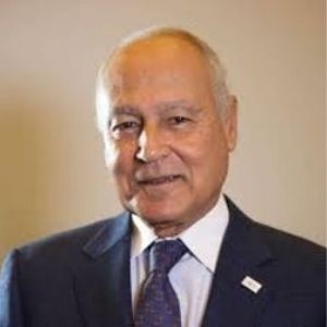 H.E. Ahmed Aboul Gheit Ali speaking at Seamless Middle East