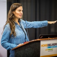 Ashley Tyrner speaking at Home Delivery World