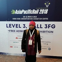 Erni Basri at Asia Pacific Rail 2019