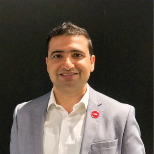 Vineet Sharma speaking at Home Delivery Asia