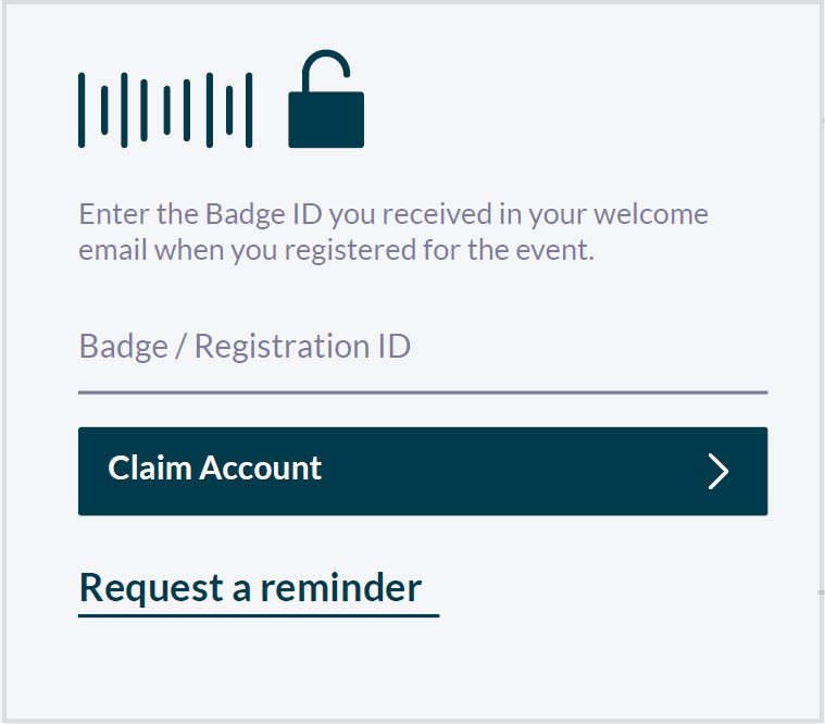 Enter your Badge / Registration ID